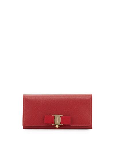 Miss Vara Bow Clip Wallet, Rosso
