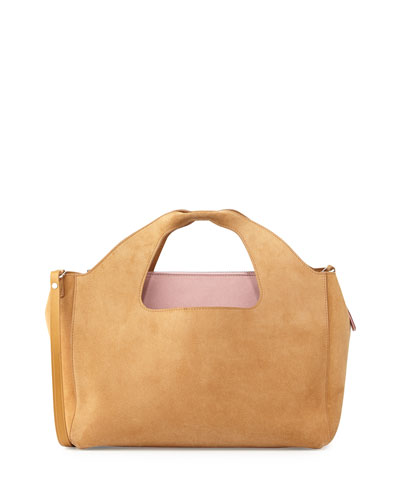 Two for One 12th Suede Tote Bag
