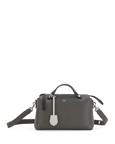 By the Way Small Quad-Color Satchel Bag, Dark Gray