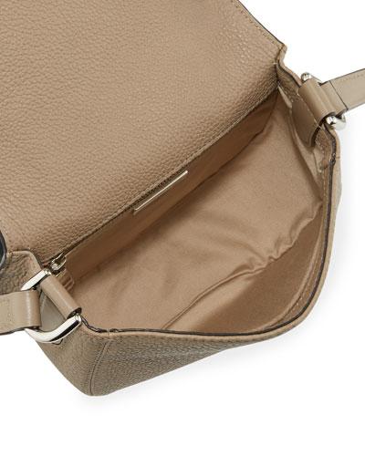 Cesto East-west Fringe-trim Woven Tote Bag, Natural/Black