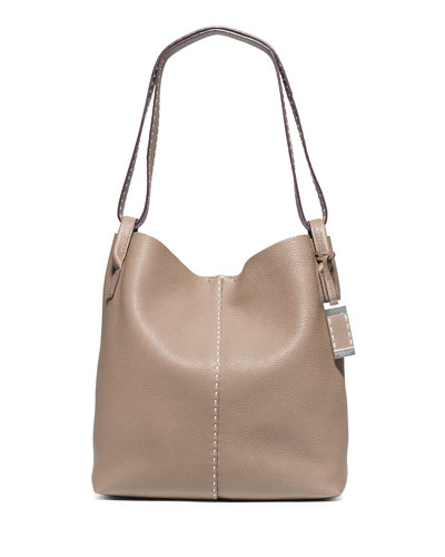 Rogers Large Slouchy Hobo Bag, Dark Taupe