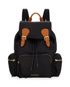 Medium Rucksack Runway Nylon Backpack, Black