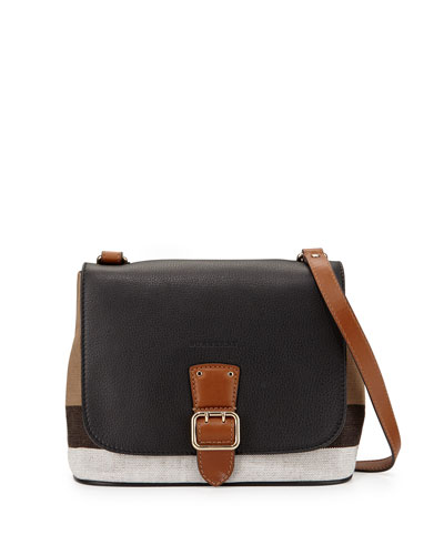 Shellwood Small Check Crossbody Bag, Black