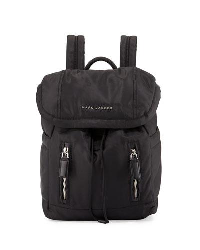 Mallorca Nylon Backpack, Black