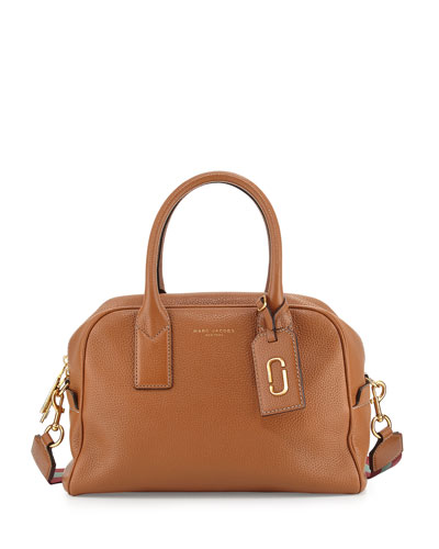 Gotham Bauletto Satchel Bag, Maple Tan