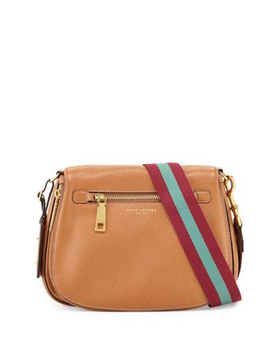 Gotham Leather Saddle Bag, Maple Tan