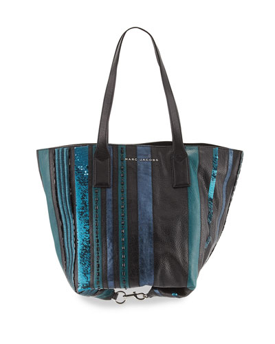 Wingman Striped Tote Bag, Teal/Multi