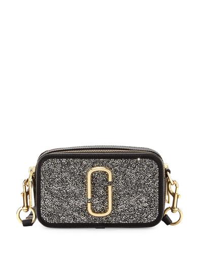 Snapshot Double Take Embellished Camera Bag, Dark Metal