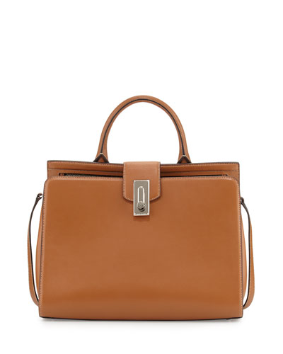 West End Large Satchel Bag, Maple Tan