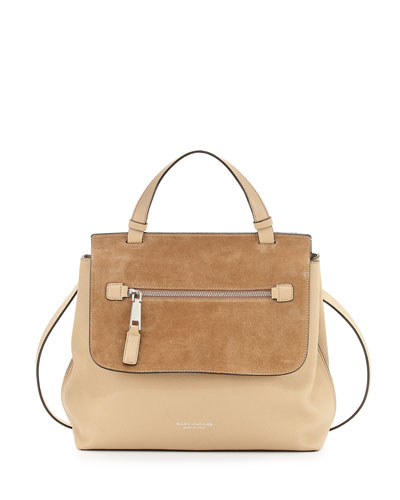 The Waverly Large Satchel Bag, Maple Tan