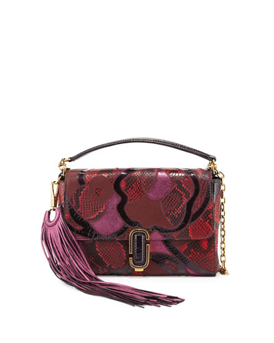 J Marc Snake Patchwork Shoulder Bag, Rubino Multi