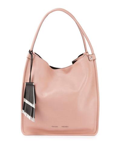 Medium Soft Leather Tote Bag, Bare