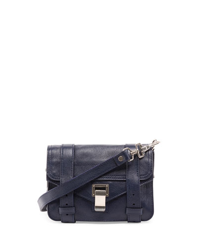 PS1 Mini Leather Crossbody Bag, Indigo
