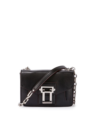Hava Smooth Leather Crossbody Bag, Black