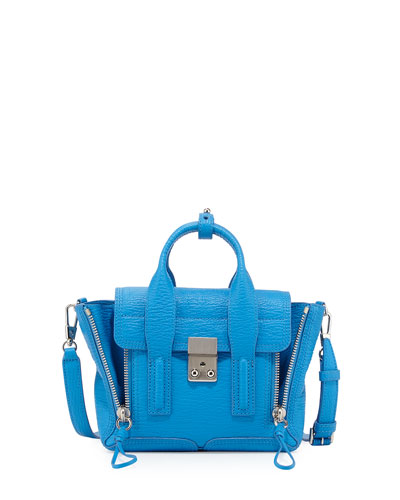 Pashli Mini Satchel Bag, Cyan