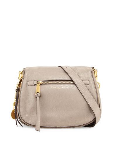 Recruit Leather Saddle Bag, Mink