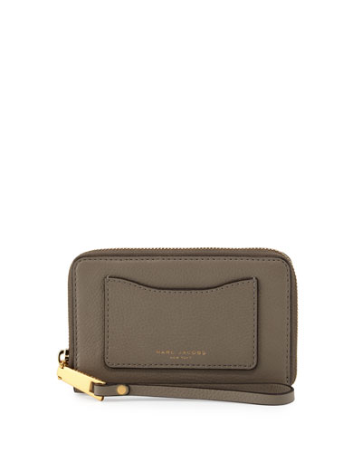 Recruit Zip-Around Phone Wristlet Wallet, Mink