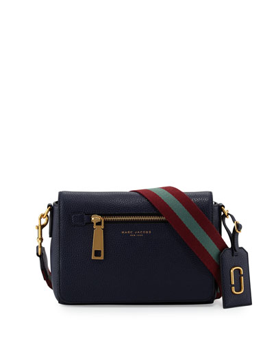 Gotham Small Shoulder Bag, Midnight Blue