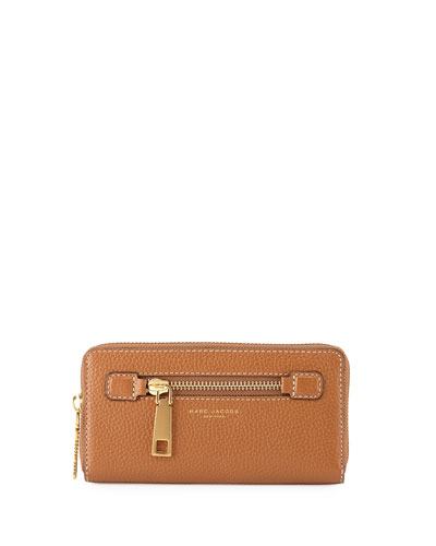Gotham Leather Continental Wallet, Maple Tan