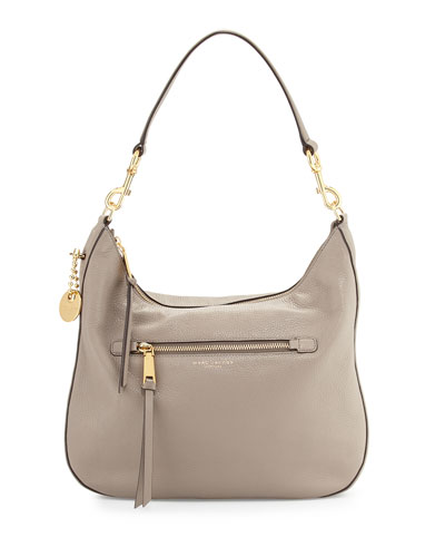 Recruit Leather Hobo Bag, Mink