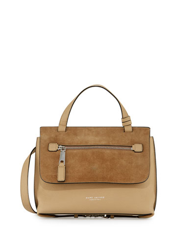 The Waverly Small Satchel Bag, Camel
