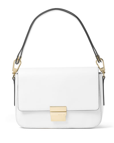 Madelyn Large Convertible Shoulder Bag, Optic White