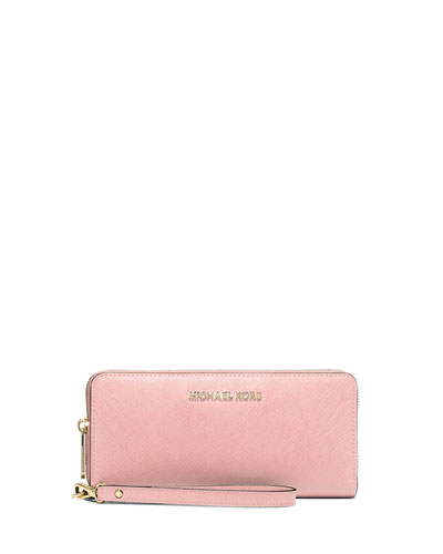 Jet Set Travel Continental Wallet, Blossom
