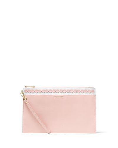 Analise XL Zip Clutch Bag, Blossom/White