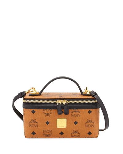 Color Visetos Cosmetics Bag w/ Strap, Cognac