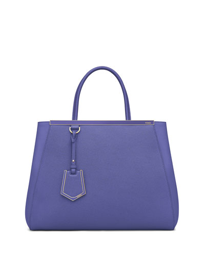 2Jours Medium Saffiano Tote Bag, Purple