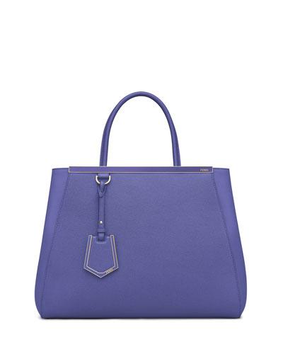 2Jours Medium Saffiano Tote Bag, Purple