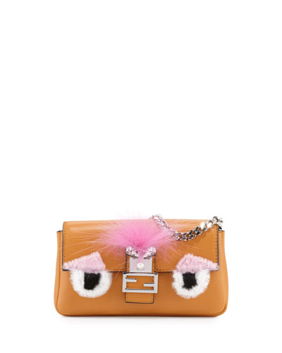 Baguette Micro Bag Bugs Crossbody Bag, Ginger