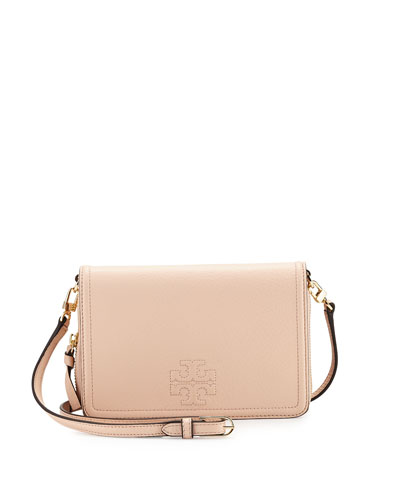 Thea Leather Wallet Crossbody Bag, Light Pink