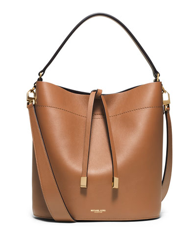 Miranda Medium Leather Shoulder Bag, Luggage