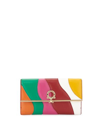 Continental Gancini Wallet, Multicolor