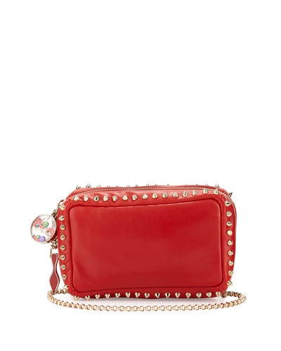 Piloutin Studded Wristlet Clutch Bag, Red