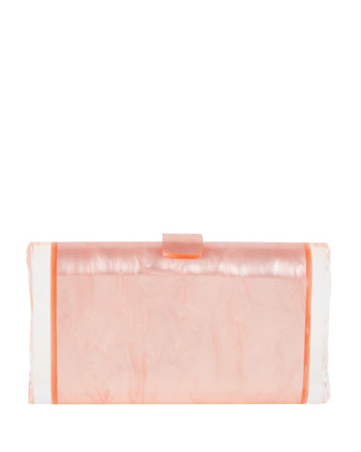 Lara Backlit Acrylic Clutch Bag, Pink