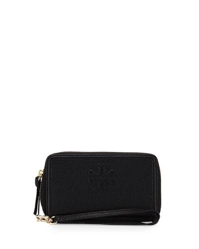 Thea Zip-Around Smartphone Wristlet, Black