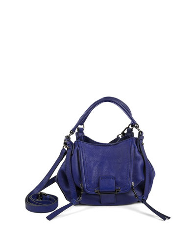 Jonnie Mini Leather Crossbody Bag, Cobalt