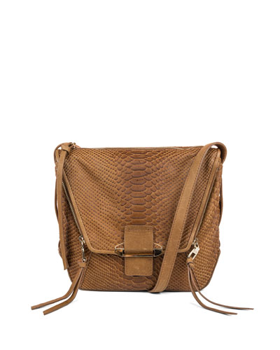 Gwenyth Leather Shoulder Bag, Caramel