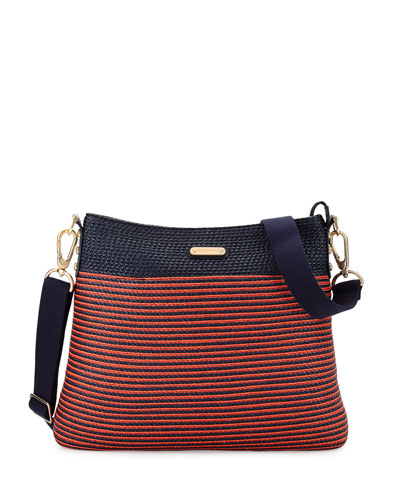 Escape Pouch Crossbody Bag, Flame/Navy