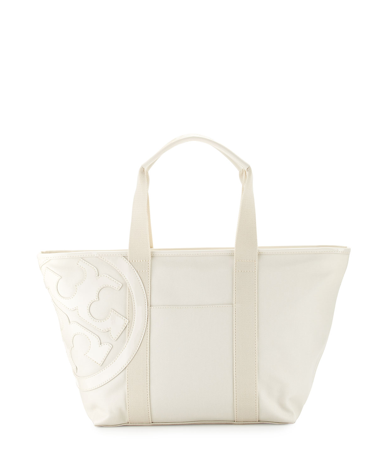 Beach Small Zip Tote Bag, New Ivory