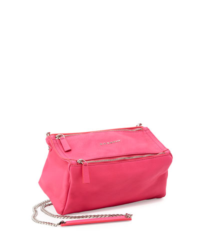Pandora Mini Chain Sugar Satchel Bag, Bright Pink