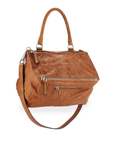 Pandora Pepe Medium Satchel Bag, Caramel