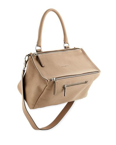 Pandora Medium Sugar Satchel Bag, Oxblood
