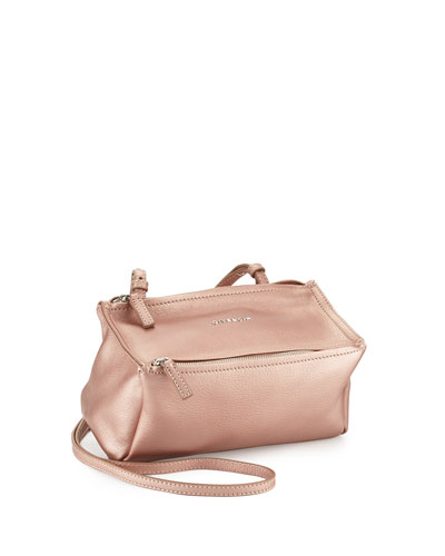 Pandora Mini Metallic Crossbody Bag, Champagne