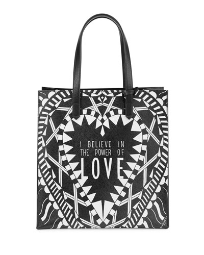 Power of Love North-South Tote Bag, Multi