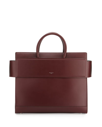 Horizon Medium Leather Satchel Bag, Oxblood