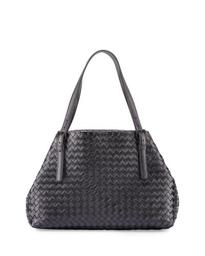 Medium Intrecciato Grosgrain Tote Bag, Multi