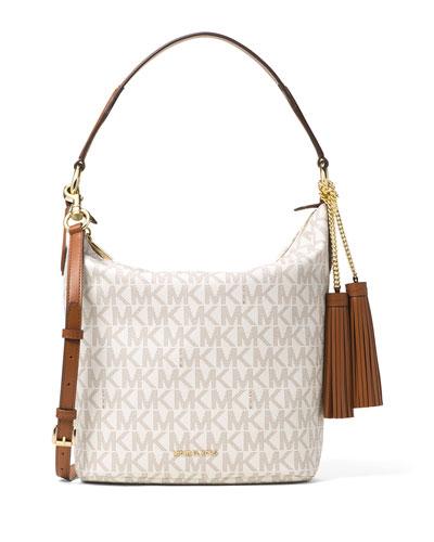 Elana Large Convertible Shoulder Bag, Vanilla